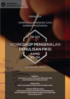 Workshop Pengenalan Fiksi Movie Posters, Movies, Films, Film, Movie, Movie Quotes, Film Posters, Billboard