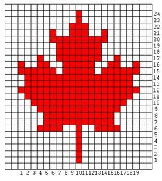 maple leaf cross stitch. Gunna have to make this for my Canadian Grandmother