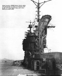 """A photo taken by American personnel on the IJN Carrier 'Junyo"""" on Oct 19th 1945"""