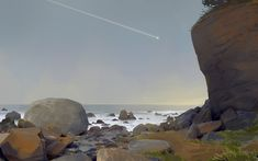 Virtual Pleinair - Wedding Rock, Sergei Ryzhov on ArtStation at https://www.artstation.com/artwork/D9KZn