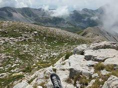Me in Corno Grande, Gran Sasso d'Italia national park landscape.