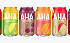 Coca-Cola unveils new flavoured sparkling water brand, Aha - FoodBev Media Kids Packaging, Water Packaging, Fruit Packaging, Water Branding, Food Packaging Design, Beverage Packaging, Coffee Packaging, Best Flavored Sparkling Water, Flavored Water Recipes