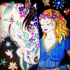 Horse Coloring Pages, Disney Characters, Fictional Characters, Projects To Try, Horses, Disney Princess, Art, Art Background, Kunst