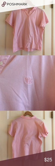 Pink Golf Shirt w/ BMCC logo I received this as a gift and only wore it a couple of times. It is in perfect condition, but it does has a couple of stains (4th picture). They probably will come out easily, but I am not sure. 95% cotton, 5% spandex. fairway & greene Tops Blouses