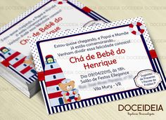 Convite - Tema Ursinho Marinheiro   Doce Ideia - Papelaria Personalizada   Elo7