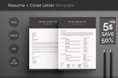 [50% off] Word Resume & Cover Letter by DemeDev on @creativemarket