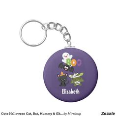 Cute Halloween Cat, Bat, Mummy & Ghost Keychain Cute Halloween, Party Hats, Keychains, Keep It Cleaner, Create Your Own, Cool Designs, Personalized Items, Cool Stuff, Cats