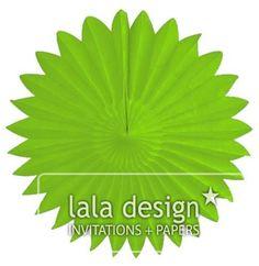 Lime green paper burst