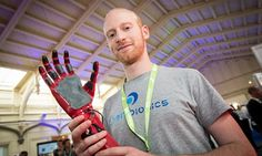 The innovators: the customised robotic hand you can print out at home | Joel Gibbard has developed a method of producing bespoke bionic prostheses for a fraction of the price of similar devices on the market by using a 3D printer [3D Printing: http://futuristicnews.com/tag/3d-printing/ Prosthetics: http://futuristicnews.com/tag/prosthetic/]