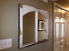 Window Frame Mirror by AsIsRepurposedItems on Etsy, $200.00