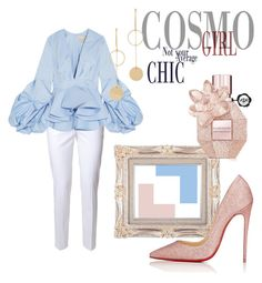 Designer Clothes, Shoes & Bags for Women Christian Louboutin, Ruffle Blouse, Chic, Polyvore, Stuff To Buy, Shopping, Collection, Tops, Design