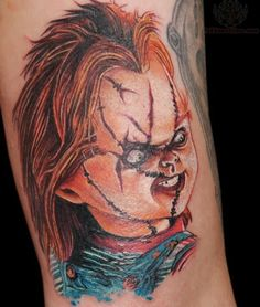 Seed Of Chucky Tattoos Chucky doll tattoos color