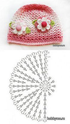 Best Ideas For Ganchillo Crochet Patrones Gorros Crochet Summer Hats, Crochet Kids Hats, Baby Hats Knitting, Crochet Baby Clothes, Crochet Crafts, Crochet Projects, Diy Crafts, Crochet Baby Hat Patterns, Crochet Baby Beanie