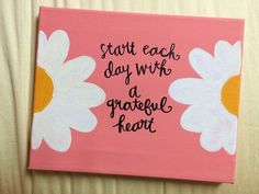 painted canvas with quote by HansCanvs on Etsy