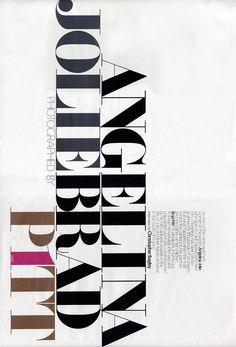 W Magazine always has amazing typography
