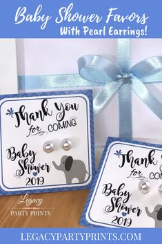 Elephant Boy Baby Shower Favors With White Pearl Earrings Elephant Baby Shower Favors, Baby Boy Shower, Bridal Shower Favors, Baby Shower Invitations, Unique Party Favors, Handmade Shop, Handmade Gifts, Etsy Crafts, Birthday Party Favors