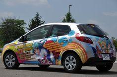 "an ""Itasha"". It's a Anime(Manga) Wrapping car."