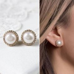 Buy Now Bridal Earrings Pearl Earrings Stud Earrings Wedding...