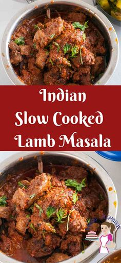 BEST EVER Slow Cooked Lamb Masala Learn to make the most authentic Indian classic Lamb Masala often known as Mutton Masala in India. Spiced with exotic Indian spices and slow cooked until fork tender. Slow Cooking, Cooking Tips, Cooking Recipes, Cooking Chef, Slow Cooker Recipes, Meat Recipes, Crockpot Recipes, Dinner Recipes, Crockpot Lamb