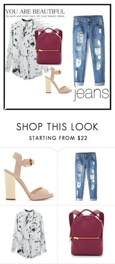 """""""Casual."""" by katherinc23fashion ❤ liked on Polyvore featuring Giuseppe Zanotti and Sophie Hulme"""