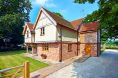 Tony and Sheila Shelford's oak frame home in Cambridgeshire has been beautifully designed by Pete Tonks and crafted by Oakwrights. Read more about Building with Oak Frame here: http://www.self-build.co.uk/building-oak-frame