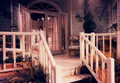 Maris Crane's beach house exterior set design by Ron Olsen Twelfth Night, Set Design, Beach House, Stairs, Exterior, Olsen, Room, Homes, Home Decor