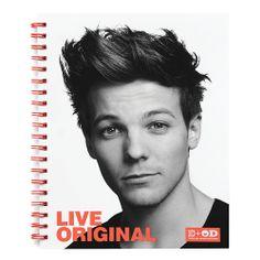 One Direction Limited Edition 1D   OD Together Spiral Notebook, Louis - Original, Orange