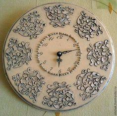 Часы для дома ручной работы. Ярмарка Мастеров - ручная работа. Купить Часы с орнаментом. Handmade. Часы настенные, часы для дома