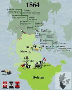 Billedresultat for 1864 krigen Denmark History, Danish Language, Denmark Map, Water Under The Bridge, History Timeline, Cooperative Learning, Important Facts, Historical Maps, Denmark