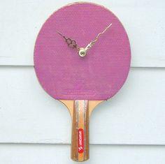 Ajouter une touche de sport chez vous avec cette horloge #pingpong !