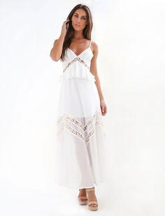 5fb17281763 Shop Dresses At Tiger Mist. Long White Maxi DressOnline ...