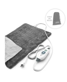 Pure Enrichment PureRelief XL Heating Pad for Back Pain and Cramps - Fast-Heating, Ultra-Soft Heat Therapy with 6 Temperature Settings and Auto Shut-Off Feature - x (Charcoal Gray)