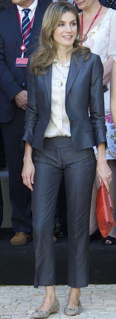 Letizia is more fashionable in Pretty Ballerina pumps, £409