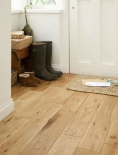 Go for real wood flooring in a hallway