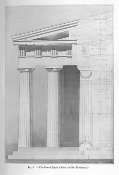 Greek Architecture Drawings