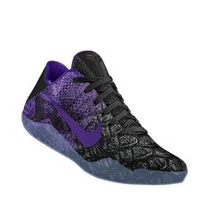 Kobe XI Elite iD Men's Basketball Shoe Purple Sneakers, Sneakers Nike, Nike Co, Men's Basketball, Custom Shoes, Kobe, Nike Free, Fashion, Nike Tennis Shoes