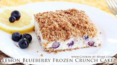 Blueberry Cream Dump Cake   Cooking at Home