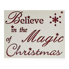 Wilko Believe In Magic Plaque