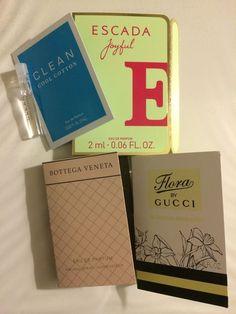 New Eau De Parfum Samples Including Clean Escada Bottega Veneta And Gucci #Escada