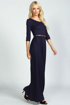 Sophia Scoop Neck Elasticated Waist Maxi Dress :  dress up or dress down & great price!