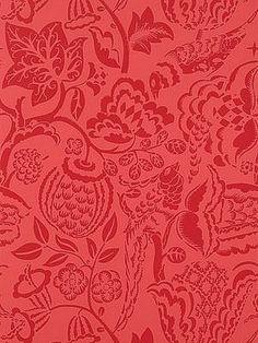 DecoratorsBest - Detail1 - Sch 5003714 - Uccello - Red - Wallpaper - DecoratorsBest