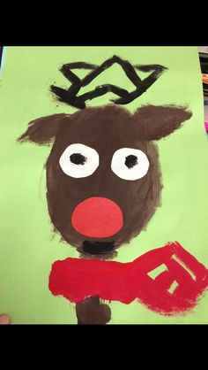 Reindeer he did Fall 2013 in Kindergarten Art
