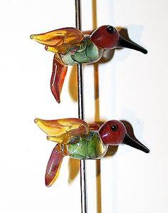 Some of my lampwork hummingbirds!