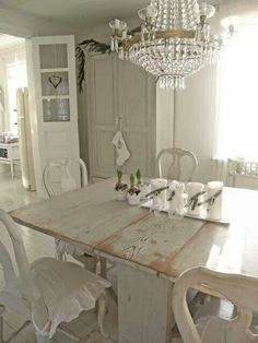 white shabby chic decor