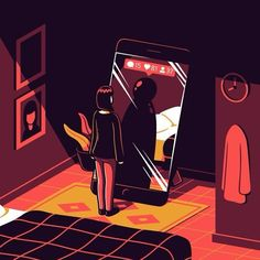 Italian illustrator Elia Colombo creates colorful vector artwork that illustrates themes from modern society. His conceptual illustrations point out relatable feelings and experiences along with a good dose of humor and irony. Art And Illustration, Graphic Design Illustration, Creative Illustration, Satire, Illustrator, Satirical Illustrations, Conceptual Illustrations, Illustrations Posters, Social Media Art