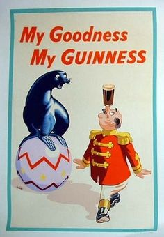My Goodness My Guinness (artist: Wilk) UK c. 1958 - Vintage Advertisement Gallery Quality Metal (Grey) Art), Women's, Size: 12 x 18 Metal Art Vintage Advertisements, Vintage Ads, Vintage Posters, Vintage Prints, Beer Advertisement, Advertising, Guinness Advert, Guinness Book, Candy Darling