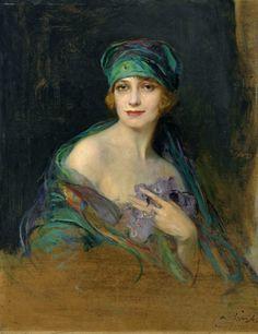 Philip Alexius de László - Portrait of Princess Ruspoli, Duchess de Gramont, 1922