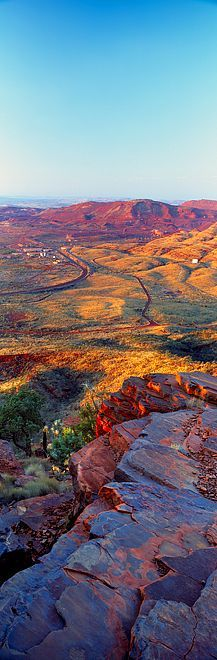 Mount Nameless near the town of Tom Price in Pilbara, Western Australia by Christian Fletcher