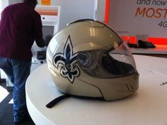 New Orleans Saints motorcycle helmet