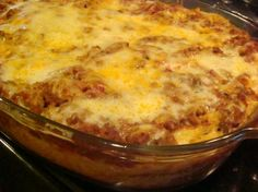 Baked Spaghetti By Paula Deen Recipe - Genius Kitchen Casserole Recipes, Pasta Recipes, Beef Recipes, Cooking Recipes, Recipies, Dinner Recipes, Holiday Recipes, Yummy Recipes, Amish Recipes
